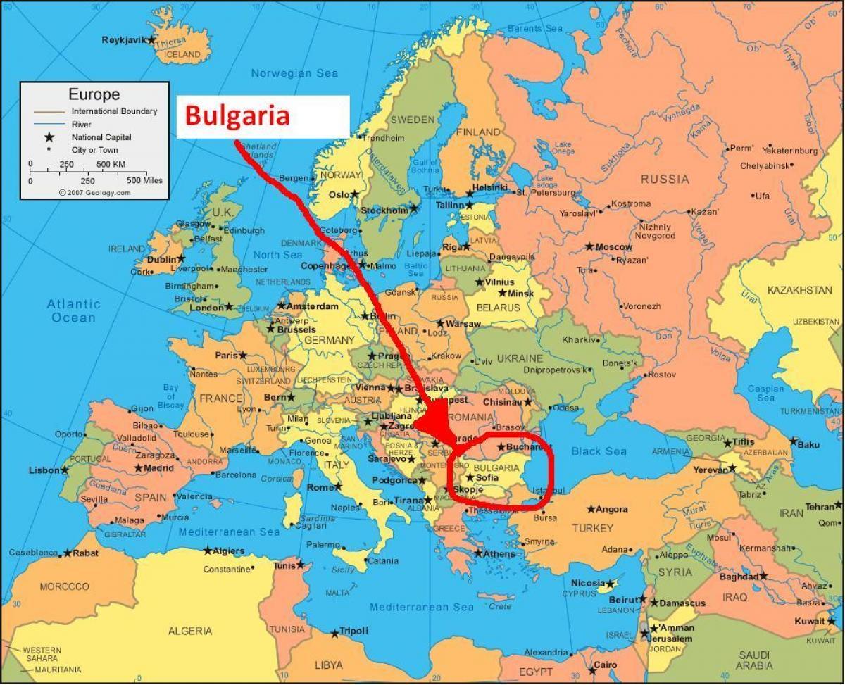 Kaart Van Bulgarije En Omliggende Landen Kaart Bulgarije
